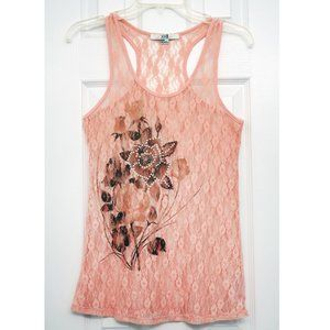 XXI Floral pink Lace tank top